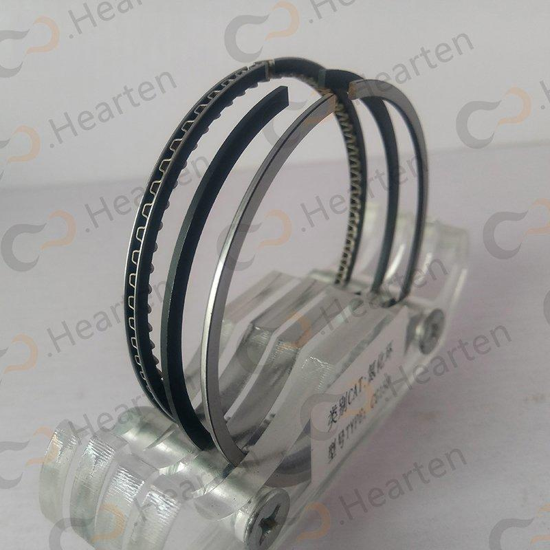 Nitriding piston ring